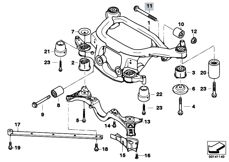 bmw x3 front differential diagram