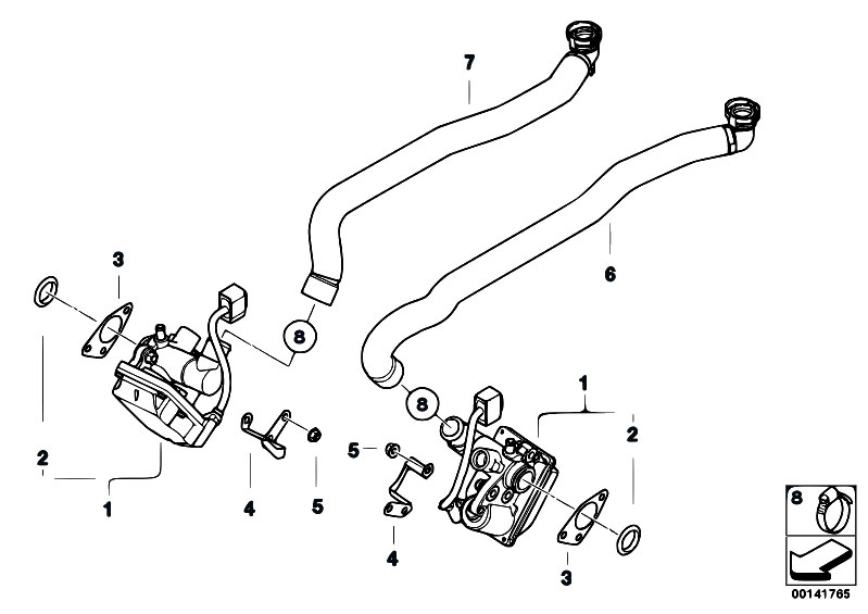 Original Parts For E60 M5 S85 Sedan    Fuel Preparation