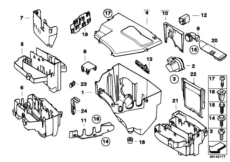 original parts for e60 525i n52 sedan engine electrical. Black Bedroom Furniture Sets. Home Design Ideas