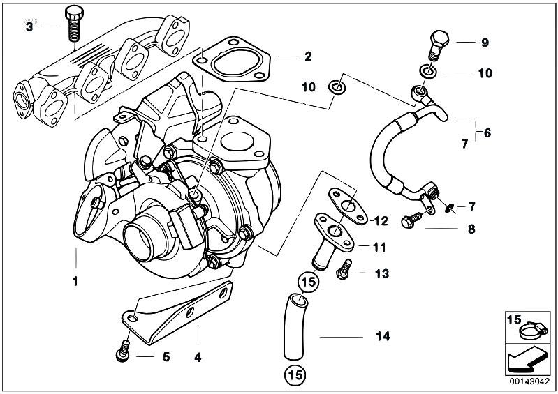 Original Parts For E91 318d M47n2 Touring    Engine   Turbo