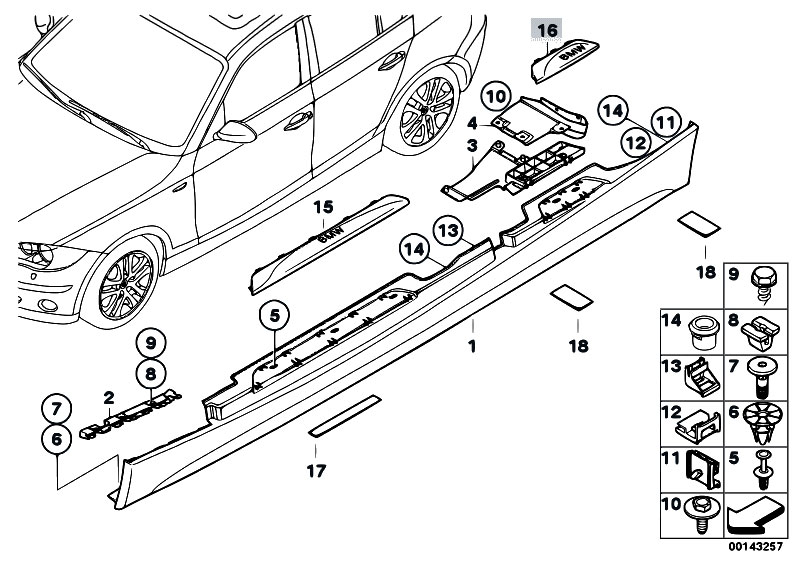 Original Parts For E87n 120i N43 5 Doors    Vehicle Trim   M
