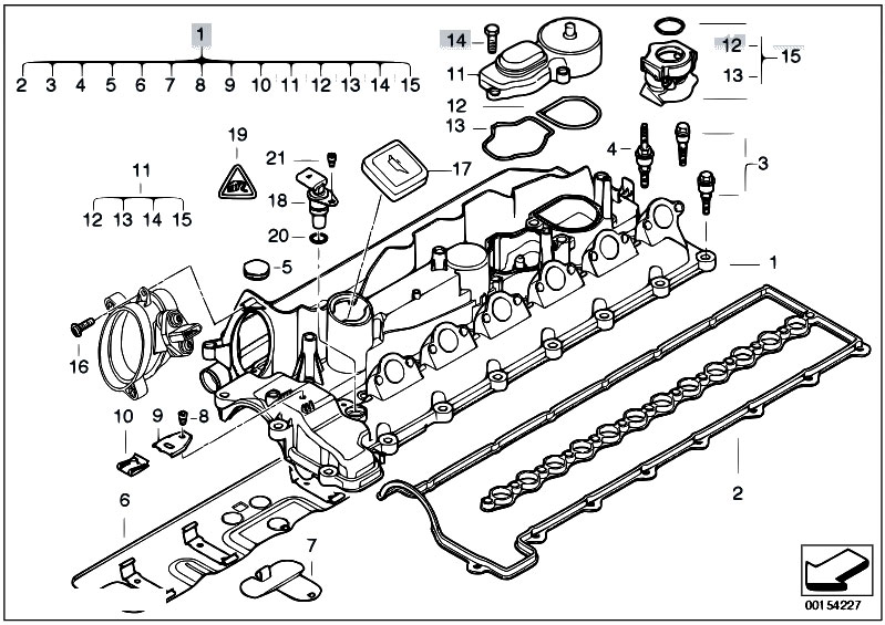 bmw e60 engine diagram original parts for e60 530d m57n sedan / engine/ cylinder ... 2002 bmw 325i engine diagram #7