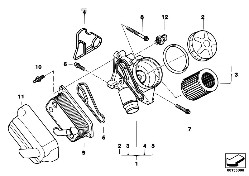 2007 bmw m5 e60 oil filter location
