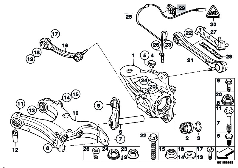 original parts for e70 x5 4 8i n62n sav    rear axle   rear