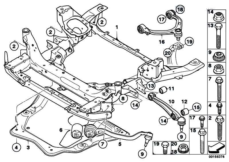 Original Parts For E71 X6 30dx M57n2 Sac    Front Axle   Frnt Axle Support Wishbone Tension Strut