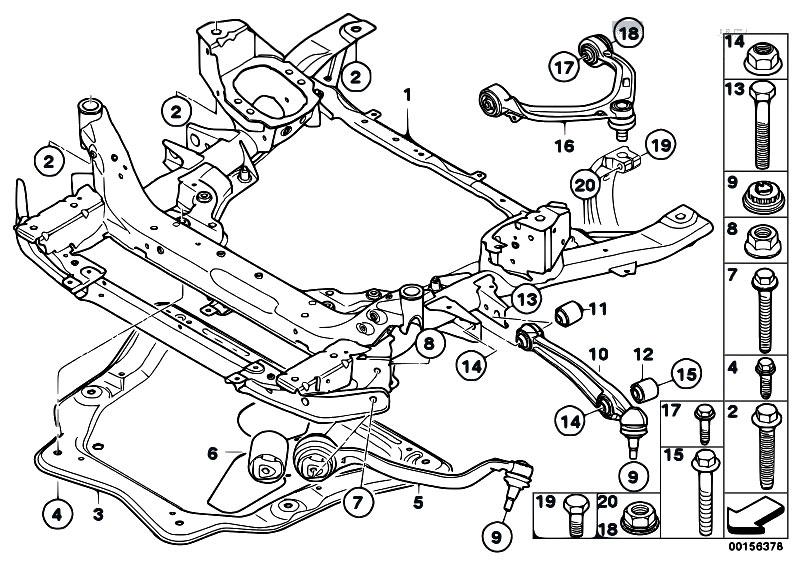 original parts for e71 x6 30dx m57n2 sac    front axle