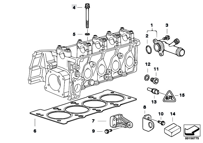 Cylinder Head Attached Parts: E36 BMW M43 Engine Diagram At Galaxydownloads.co
