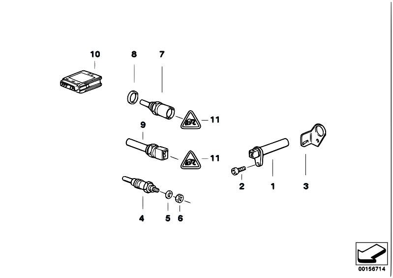 original parts for e36 318tds m41 sedan    engine electrical system   glow plug unit temp sensor