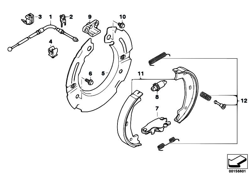 original parts for e70 x5 4 8i n62n sav    brakes   parking brake brake shoes