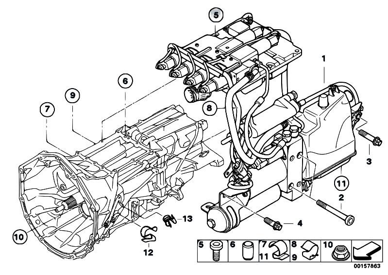 Original Parts for E60 M5 S85 Sedan / Manual Transmission ...