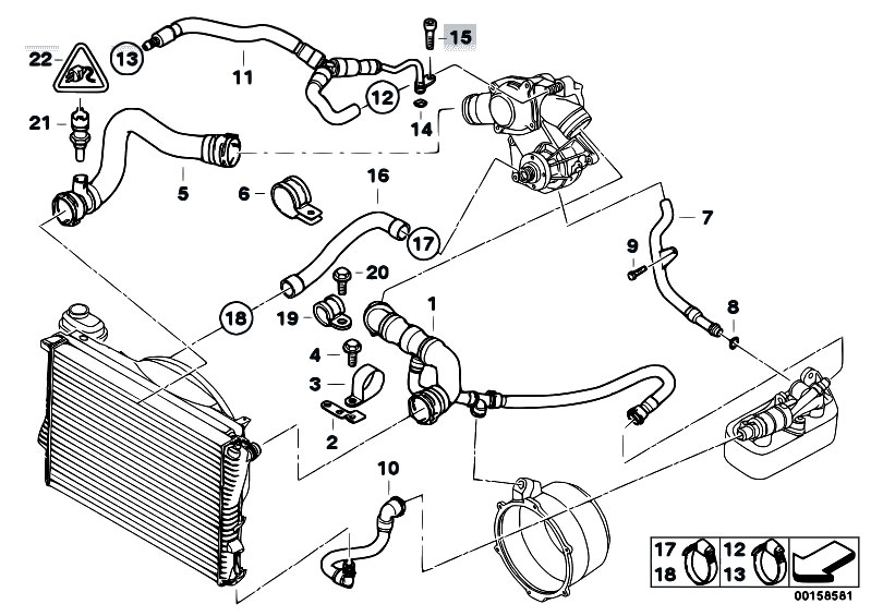 bmw engine cooling system diagram original parts for e38 750ilp m73n sedan / engine/ cooling ... 2002 saturn vue engine cooling system diagram #5