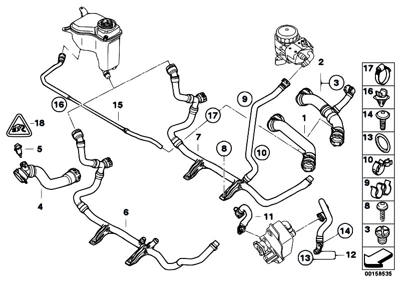 Original Parts For E87 120i N46 5 Doors    Radiator   Cooling System Water Hoses 2