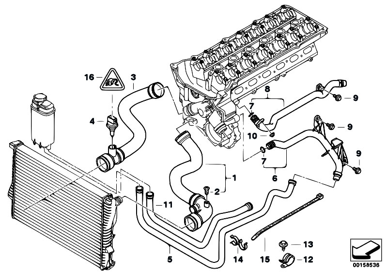 Original Parts For E39 528i M52 Sedan    Engine   Cooling