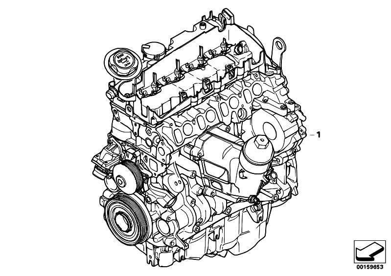 Original Parts For E83n X3 2 0d N47 Sav    Engine   Short