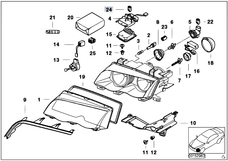 original parts for e46 318d m47n sedan    lighting   indiv