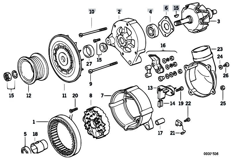 Alternator Parts 140a on ford alternator stator wiring diagram