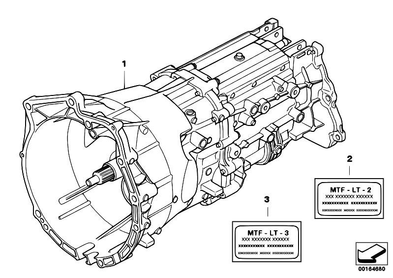 Original Parts For E53 X5 3 0i M54 Sav    Manual Transmission   Manual Gearbox Gs6x37bz Dz 4 Wheel