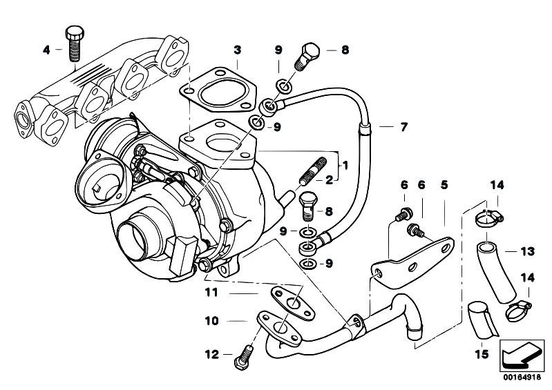 Original Parts For E39 520d M47 Sedan Engine Turbo Charger With Lubrication Estore Central Com