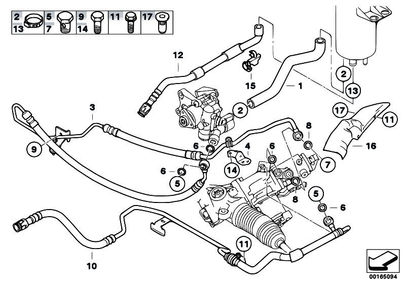 Original Parts For E61 523i N52 Touring    Steering   Power