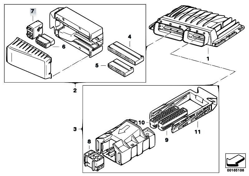 Original Parts For E60 525i N52 Sedan    Engine Electrical System   Basic Control Unit Dme Msv70
