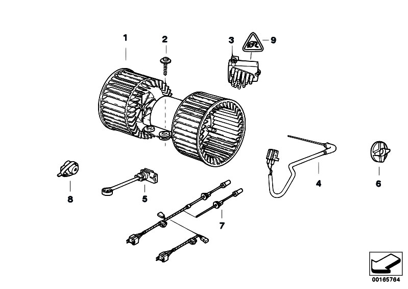 original parts for e53 x5 3 0d m57n sav    heater and air