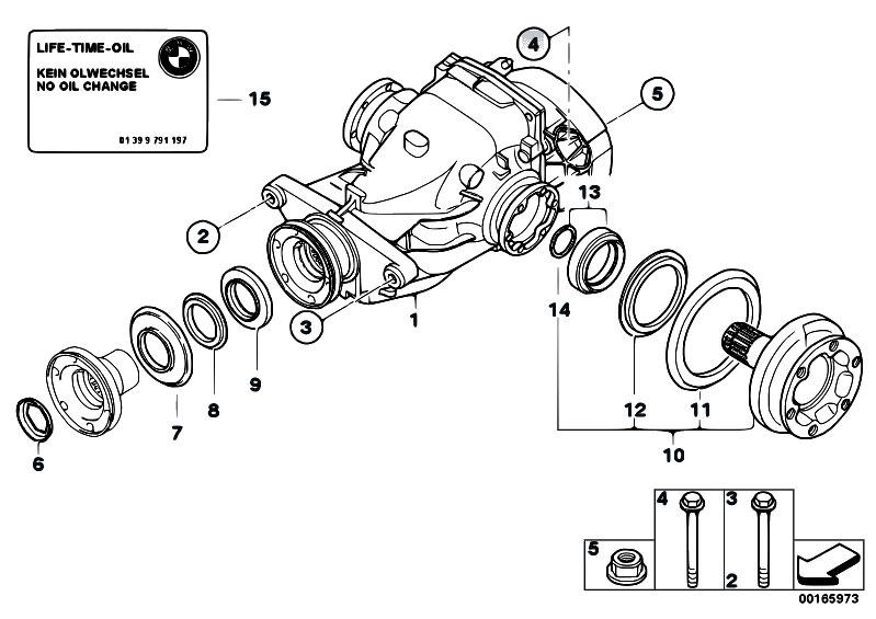 original parts for e87 118i n46 5 doors    rear axle