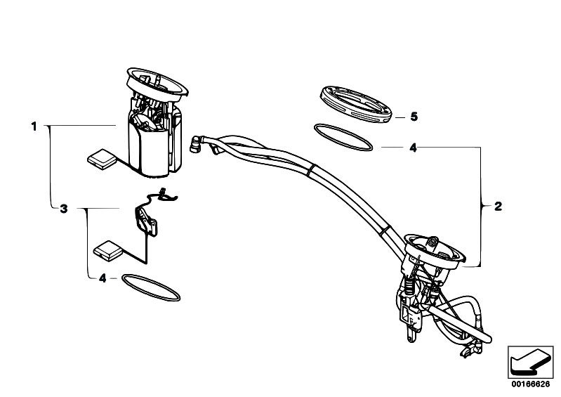 original parts for e93 m3 s65 cabrio    fuel supply   fuel filter pump fuel level sensor