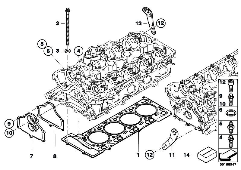 Original Parts For F01 750i N63 Sedan    Engine   Cylinder
