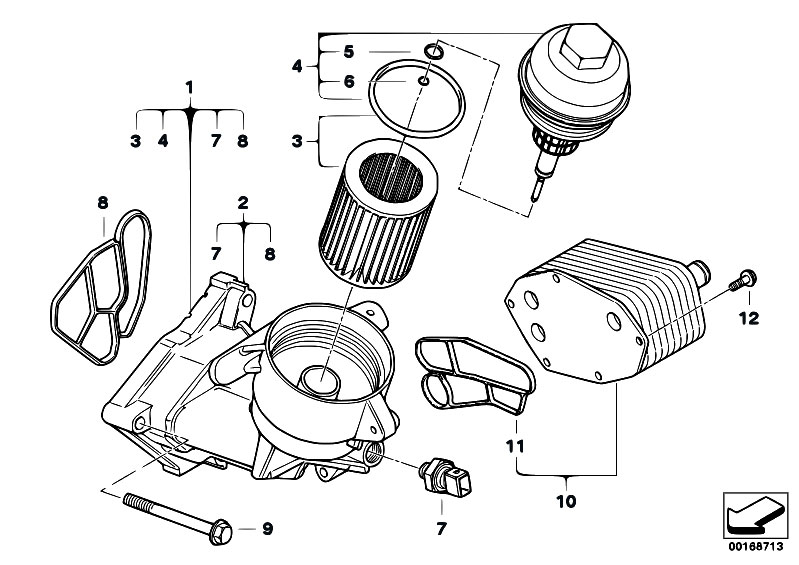 original parts for e60 535d m57n sedan    engine   lubricat