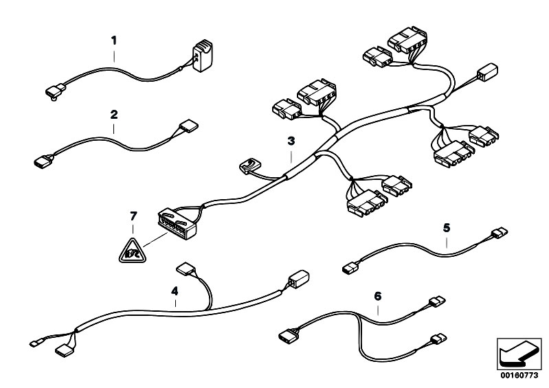 original parts for e46 330d m57 touring / vehicle ... bmw m57 wiring diagram