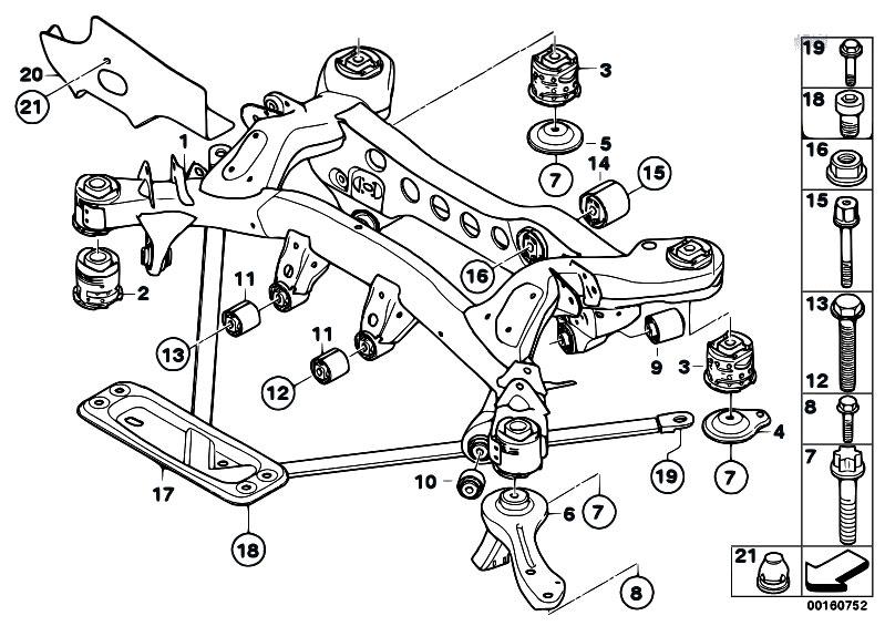 original parts for e81 116d n47 3 doors    rear axle   rear