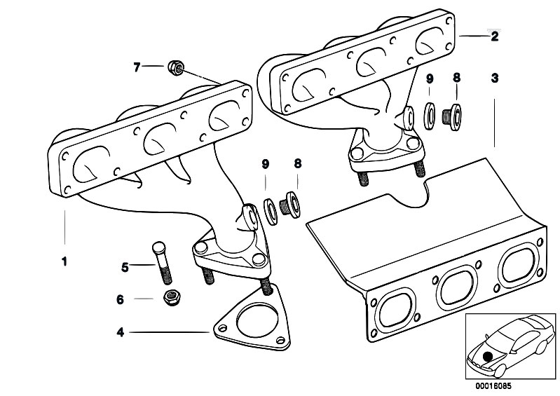 original parts for e46 320i m52 sedan    engine   exhaust