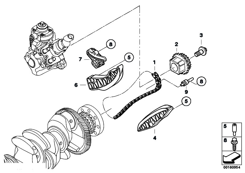 original parts for e60n 520d n47 sedan    engine   timing