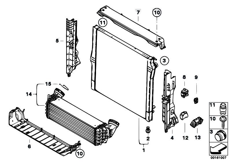 original parts for e71 x6 35dx m57n2 sac radiator. Black Bedroom Furniture Sets. Home Design Ideas