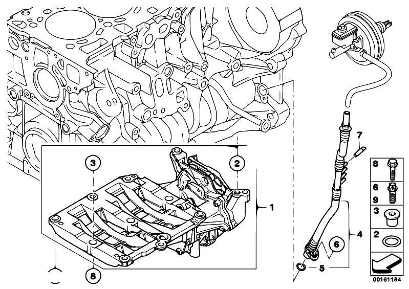 original parts for e91 320d n47 touring    engine   vacuum
