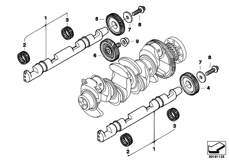 original parts for e83n x3 2 0d n47 sav    engine   crankshaft drive mass compensator