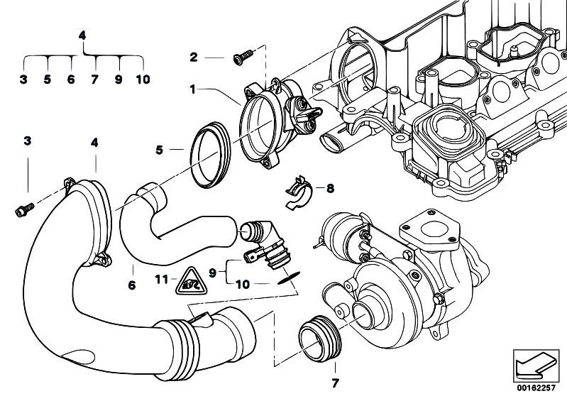 Original Parts For E83 X3 2 0d M47n2 Sav    Fuel Preparation System   Hot Film Air Mass Meter
