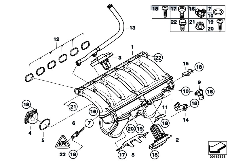 original parts for e90 325i n53 sedan    engine   intake
