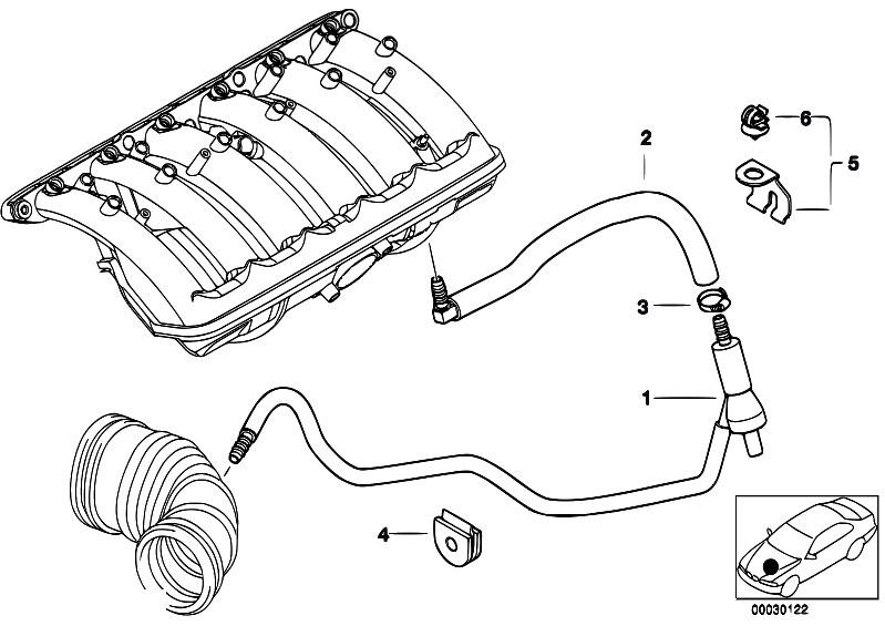 Original Parts For E46 328ci M52 Coupe    Engine   Vacuum