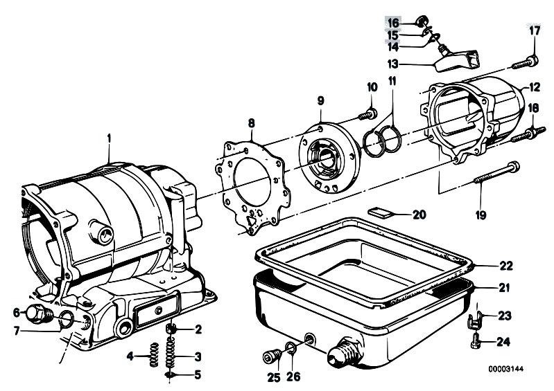 Original Parts For E12 525 M30 Sedan    Automatic Transmission   Zf 3hp22 Housing Parts Oil Pan