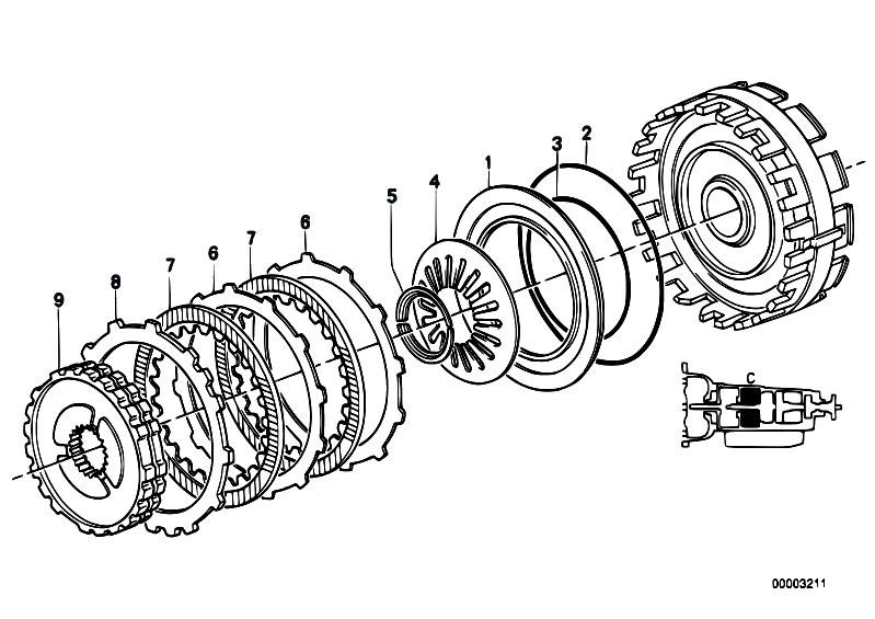 original parts for e32 750il m70 sedan / automatic ... zf brake diagram #1