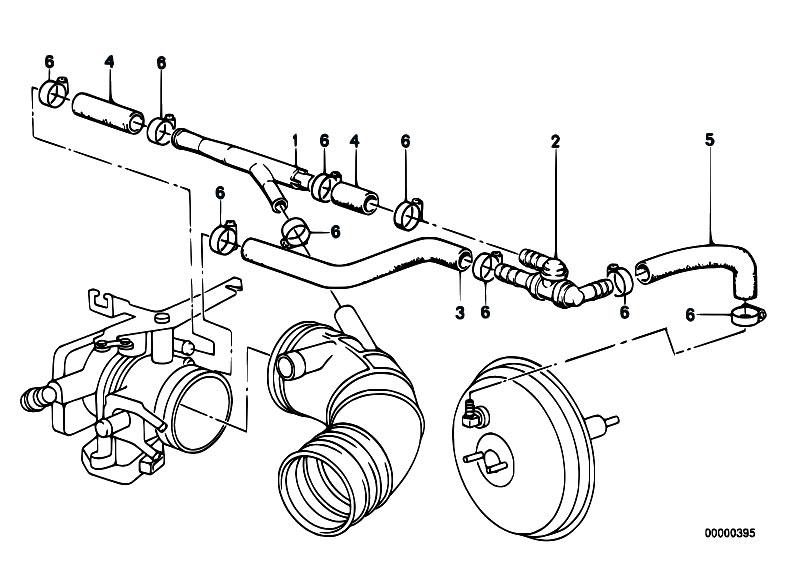 original parts for e34 520i m20 sedan    engine   vacuum