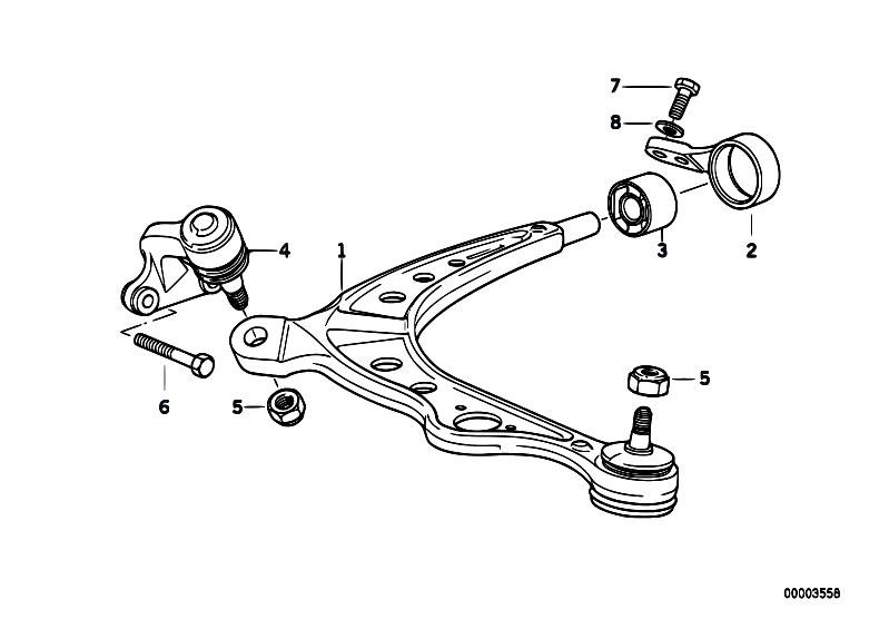 original parts for e34 525ix m50 touring    front axle