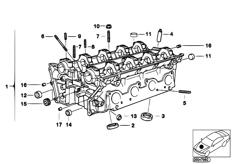 original parts for e53 x5 4 6is m62 sav    engine   cylinder