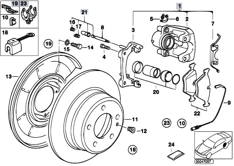 original parts for e34 m5 3 8 s38 sedan    brakes   rear