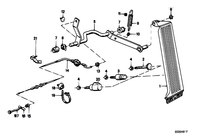 original parts for e30 318i m40 2 doors    pedals   accelerator pedal bowden cable rhd 2