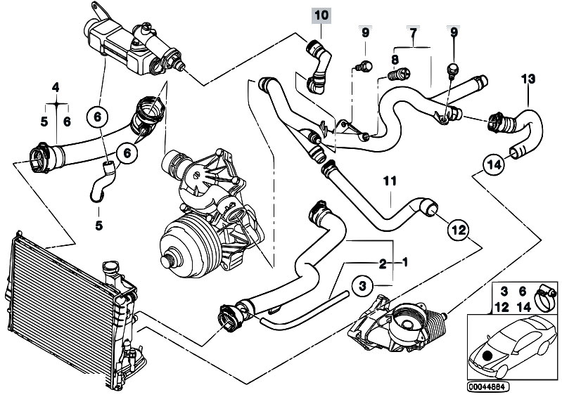 Ndq Odrfca on Bmw Engine Cooling System Diagram E39