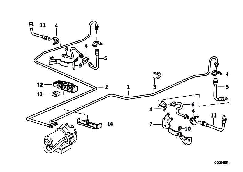 original parts for e36 320i m50 cabrio    brakes   brake pipe rear abs asc t