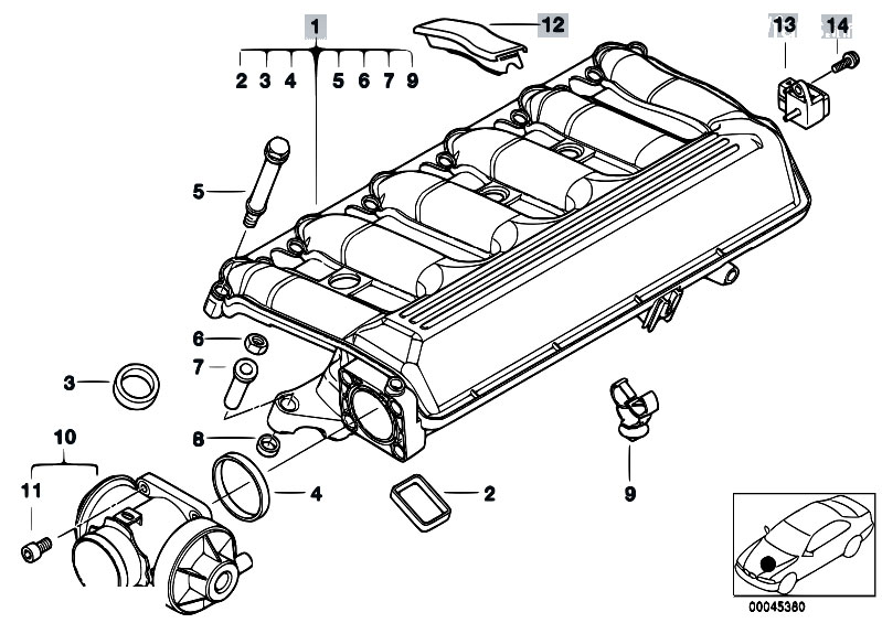 Bmw E46 Intake Manifold Diagram Bmw Free Engine Image