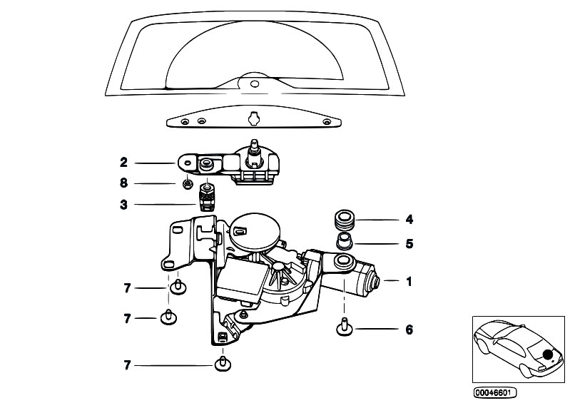 original parts for e46 320d m47 touring vehicle electrical system single parts for rear